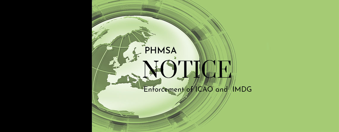 Enforcement of the new ICAO and IMDG